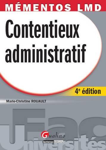 MEMENTO- CONTENTIEUX ADMININISTRATIF, 4 EME EDITION