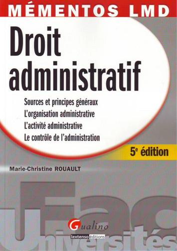 MEMENTO- DROIT ADMINISTRATIF, 5 EME EDITION