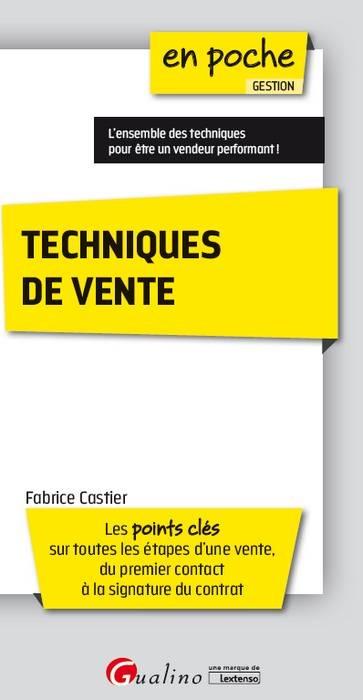 TECHNIQUES DE VENTE 2EME EDITION