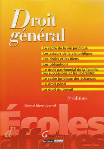 DROIT GENERAL - 3EME EDITION