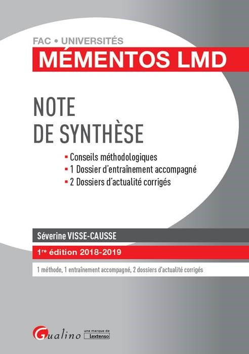 NOTE DE SYNTHESE 1ERE EDITION