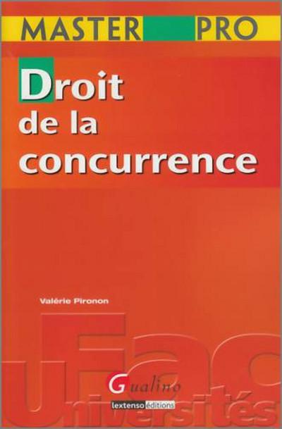 MASTER PRO - DROIT DE LA CONCURRENCE