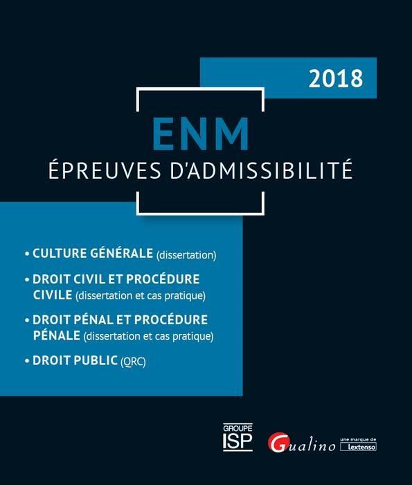 ENM - EPREUVES D ADMISSIBILITE