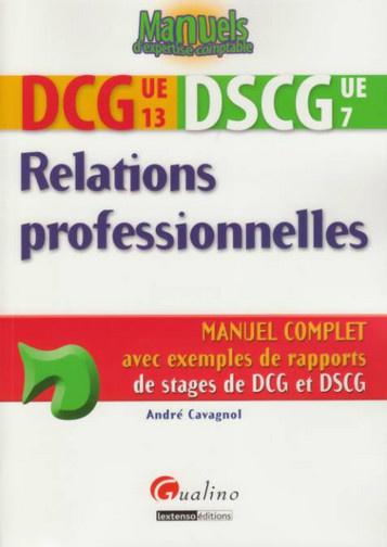 DCG 13 - DSCG 7 - RELATIONS PROFESSIONNELLES