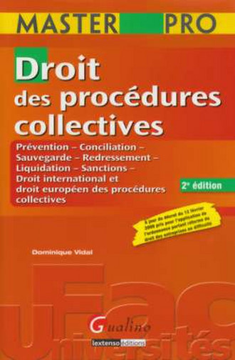 MASTER PRO - DROIT DES PROCEDURES COLLECTIVES, 2EME EDITION