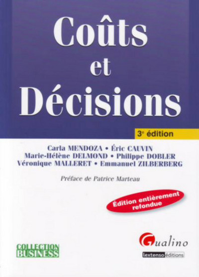 COUTS ET DECISIONS - 3EME EDITION