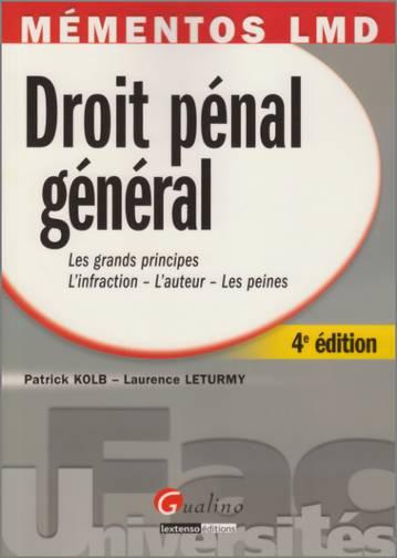 MEMENTO- DROIT PENAL GENERAL, 4 EME EDITION