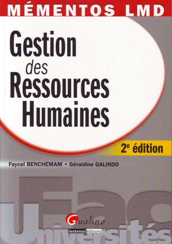 MEMENTO- GESTION DES RESSOURCES HUMAINES, 2 EME EDITION