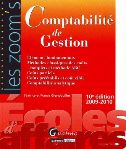 ZOOM'S COMPTABILITE DE GESTION, 10EME EDITION