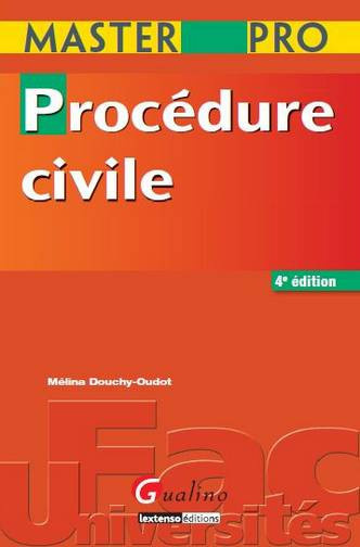 MASTER PRO - PROCEDURE CIVILE, 4EME EDITION