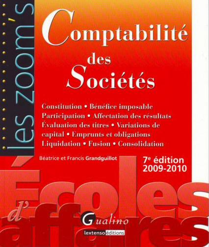 ZOOM'S COMPTABILITE DES SOCIETES, 7EME EDITION