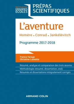 L'AVENTURE - HOMERE - CONRAD - JANKELEVITCH - PREPAS SCIENTIFIQUES 2017-2018
