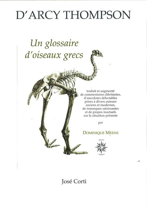 UN GLOSSAIRE D OISEAUX GRECS EDITION AUGMENTEE PAR DOMINIQUE MEENS