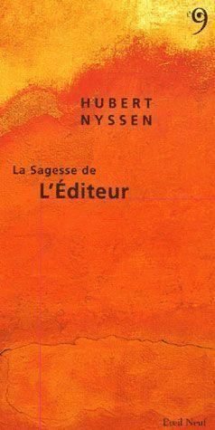 SAGESSE DE L'EDITEUR (LA)