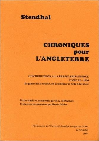 TOME VI : 1826. ESQUISSES DE LA SOCIETE, DE LA POLITIQUE ET DE LA LIT TERATURE