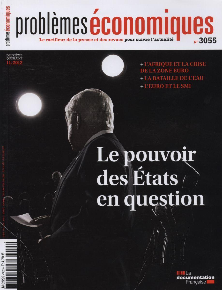 LE POUVOIR DES ETATS EN QUESTION-PROBLEMES ECONOMIQUES N 3055