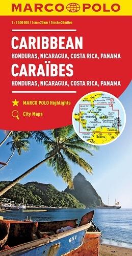 CARAIBES, HONDURAS, NICARAGUA, COSTA RICA, PANAMA 1 : 2,5 MIO