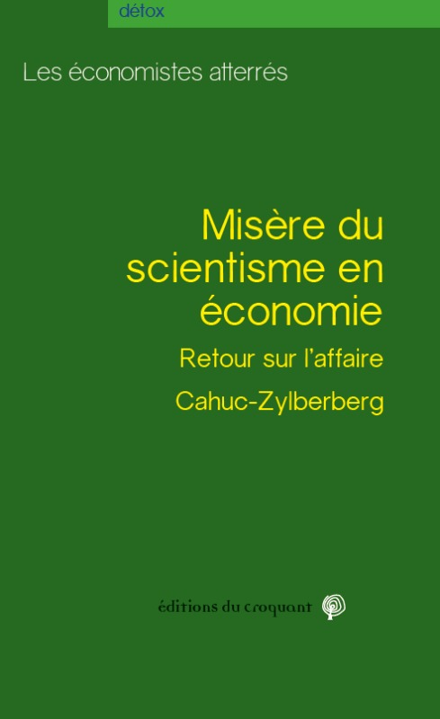 MISERE DU SCIENTISME EN ECONOMIE