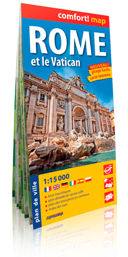 ROME ET LE VATICAN  1/15.000 (COMFORT !MAP, LAMINEE)