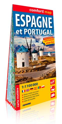 ESPAGNE ET PORTUGAL 1/1M1 (CARTE LAMINEE GRAND FOR