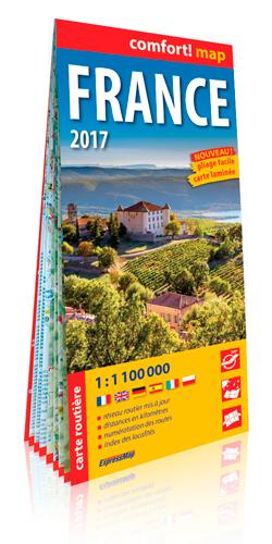FRANCE 2017  1/1M1 (COMFORT !MAP, LAMINEE)
