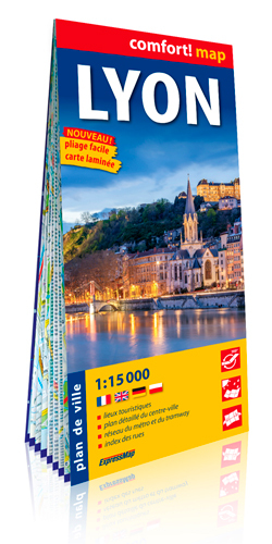 LYON 1/15.000 (CARTE GRAND FORMAT, LAMINEE)