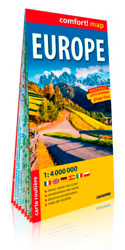 EUROPE 1/4M (CARTE LAMINEE GRAND FORMAT)