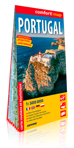 PORTUGAL 1/500.000 (CARTE LAMINEE GRAND FORMAT)