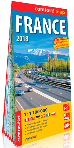 FRANCE 2018 1/1M1 (COMFORT! MAP, CARTE LAMINEE)