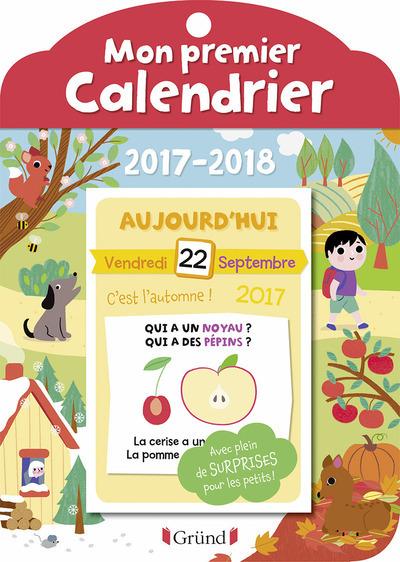 MON PREMIER CALENDRIER - ANNEE SCOLAIRE 2017-2018