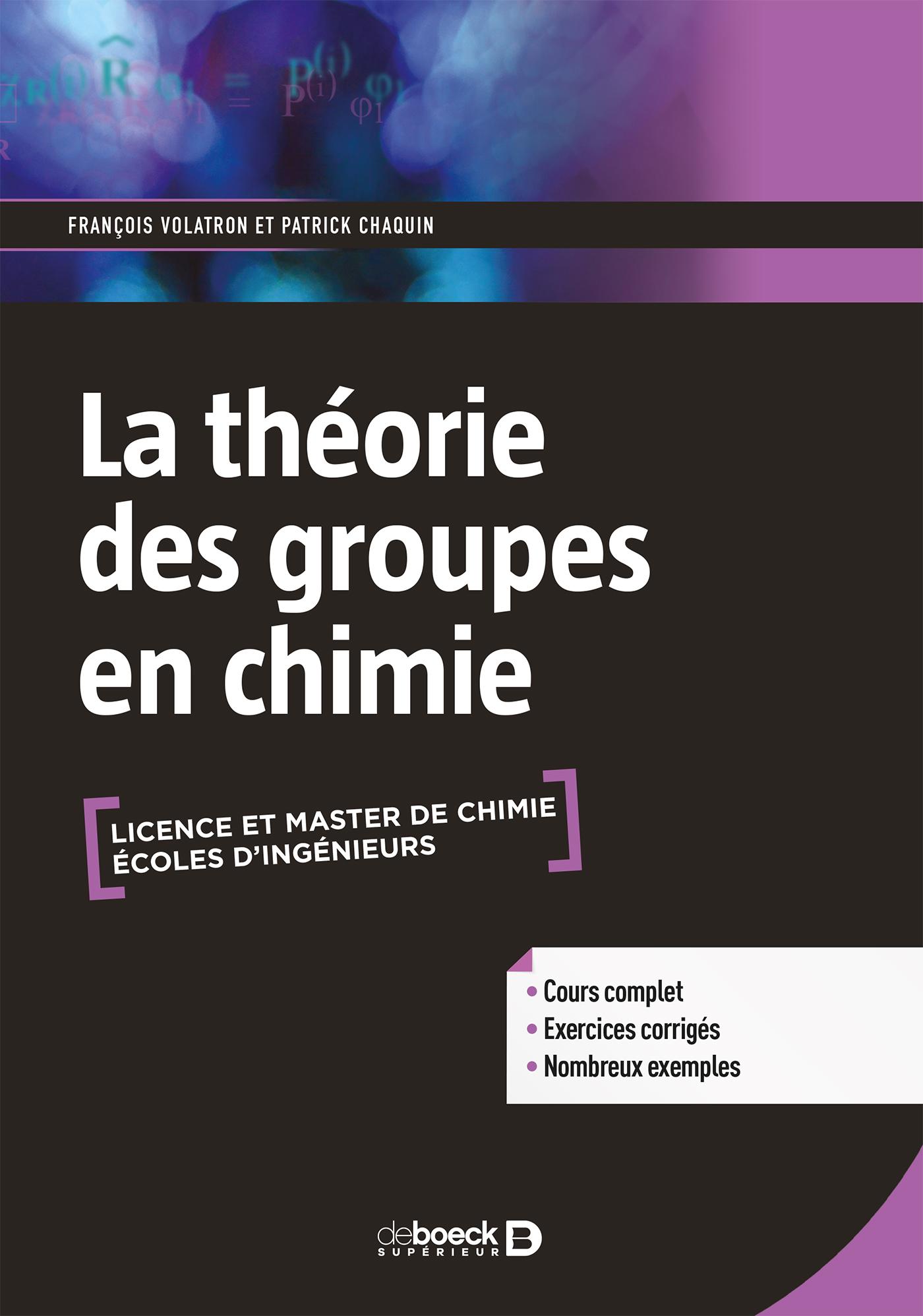 THEORIE DES GROUPES EN CHIMIE (LA)