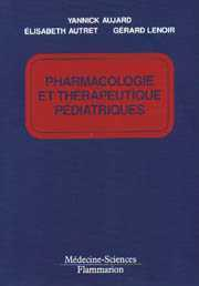 PHARMACOLOGIE ET THERAPEUTIQUE PEDIATRIQUES