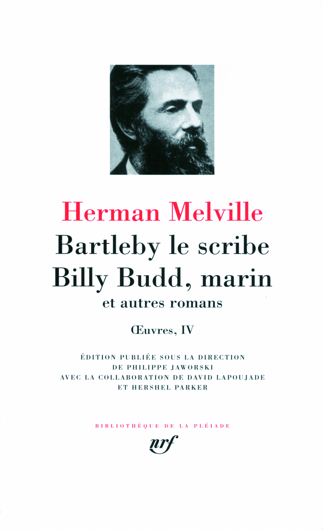 BARTLEBY LE SCRIBE, BILLY BUDD MARIN ET AUTRES ROMANS