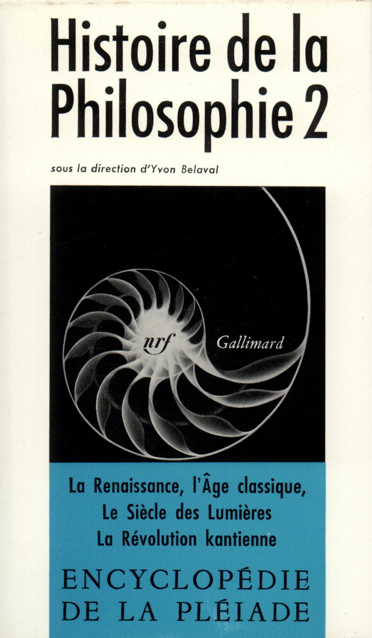 HISTOIRE DE LA PHILOSOPHIE T2