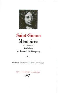 MEMOIRES / ADDITIONS AU JOURNAL DE DANGEAU T6