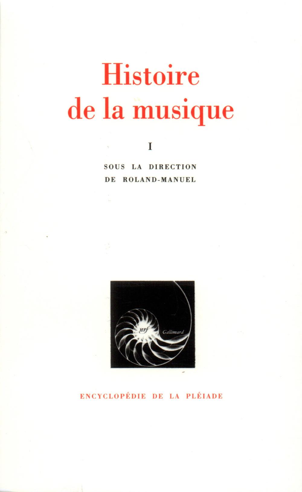 HISTOIRE DE LA MUSIQUE T1