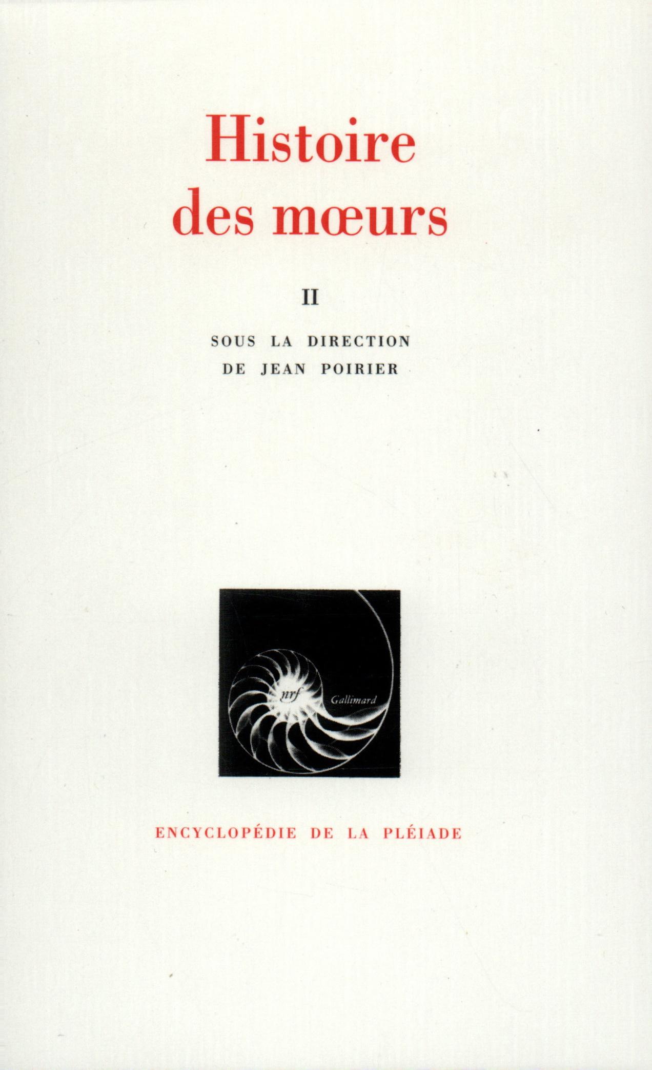 HISTOIRE DES MOEURS T2
