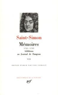 MEMOIRES / ADDITIONS AU JOURNAL DE DANGEAU T8