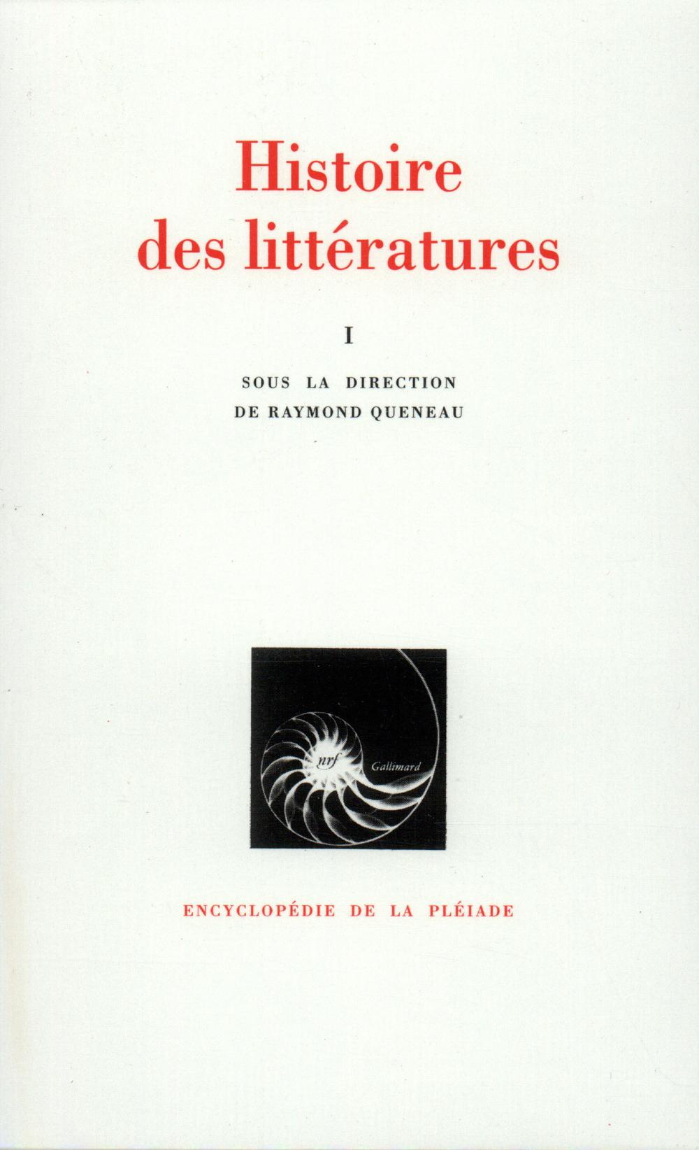 HISTOIRE DES LITTERATURES T1