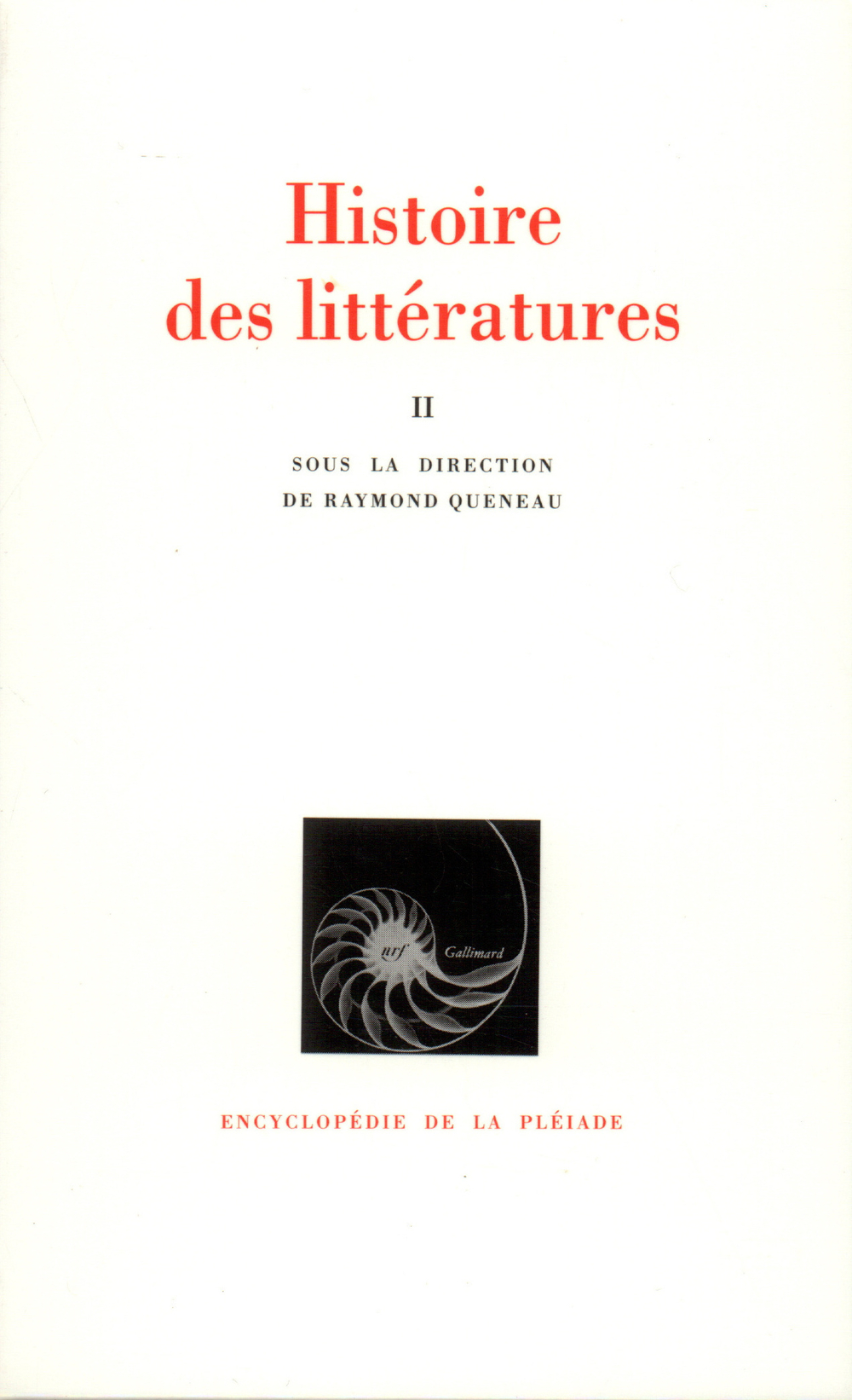 HISTOIRE DES LITTERATURES T2