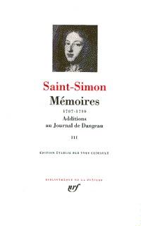 MEMOIRES / ADDITIONS AU JOURNAL DE DANGEAU T3