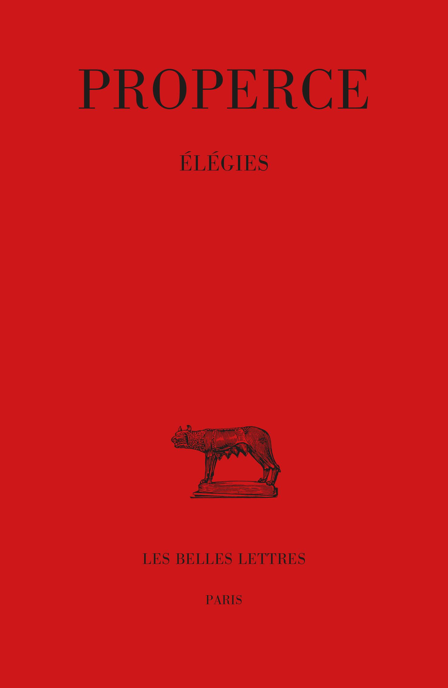 ELEGIES (NOUVELLE EDITION)