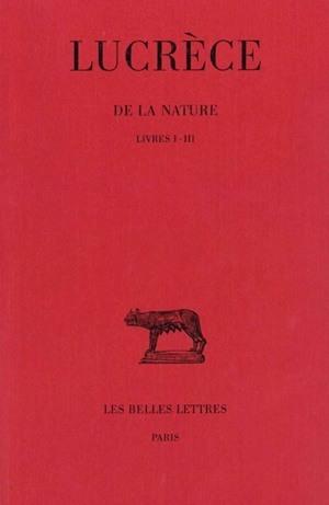 DE LA NATURE T1 L1-3