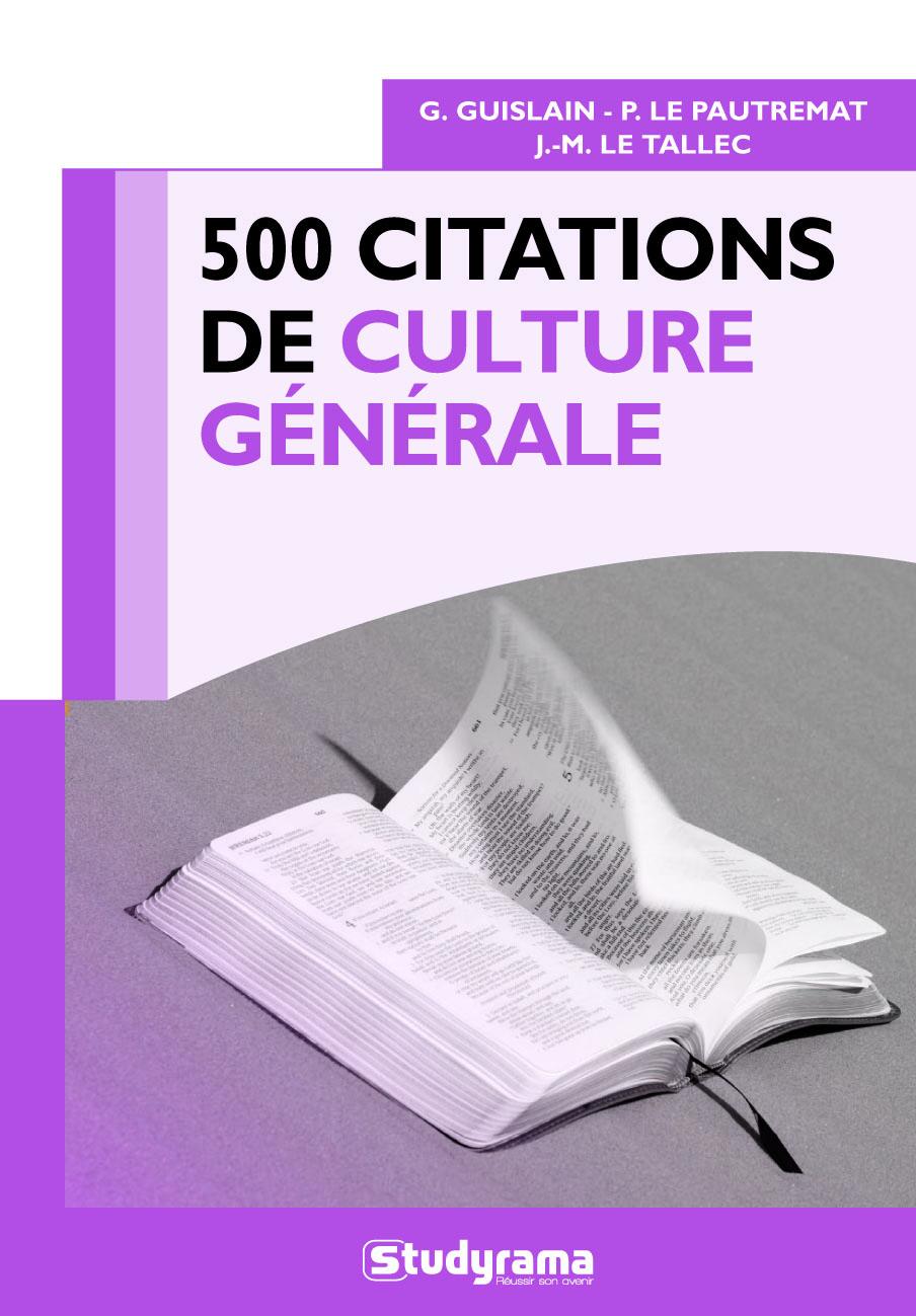 500 CITATIONS DE CULTURE GENERALE