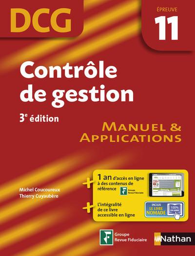 CONTROLE DE GESTION DCG EPREUVE 11 3ED - MANUEL & APPLICATIONS 2014