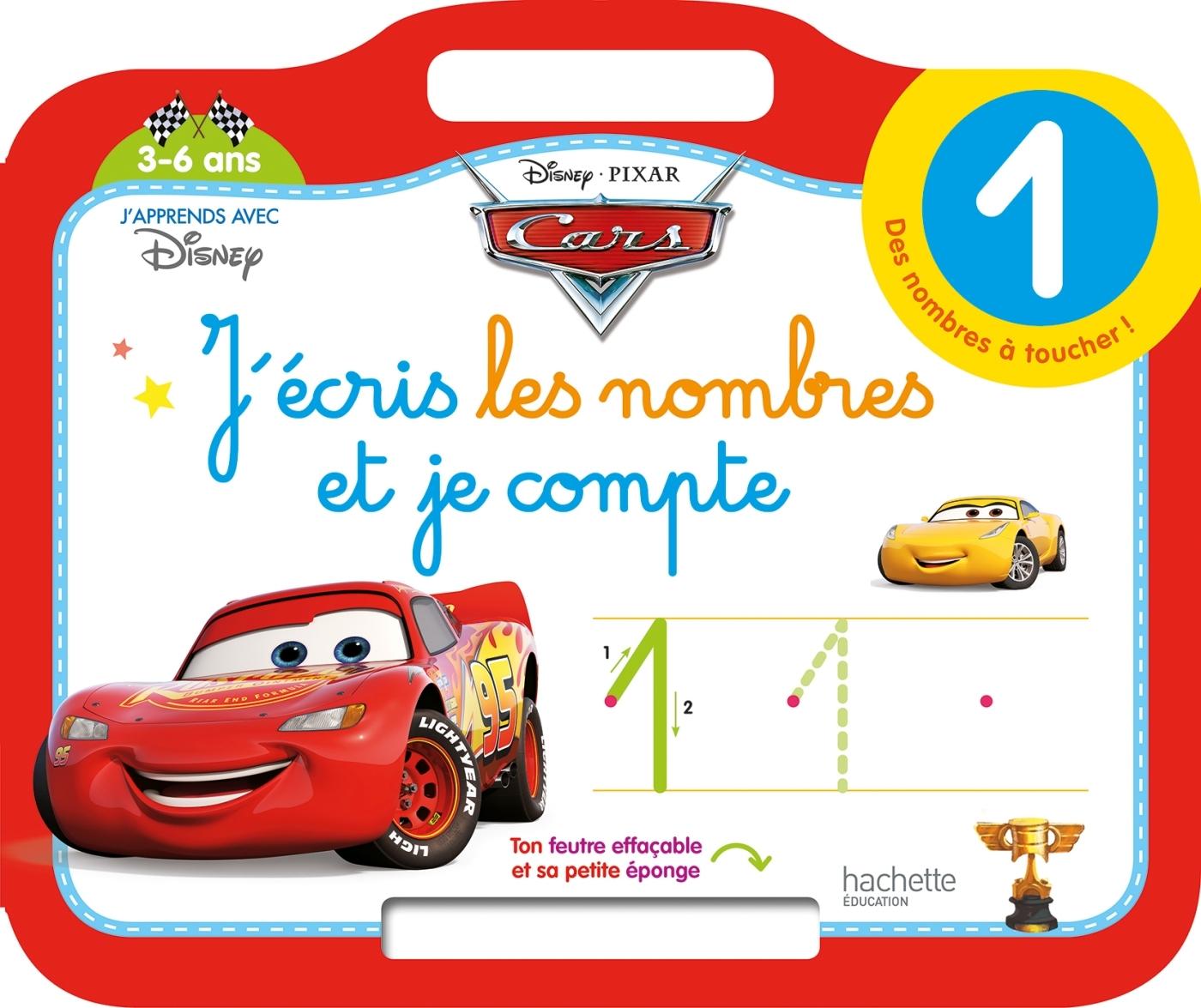 CARS ARDOISE J'ECRIS LES NOMBRES ET JE COMPTE (3-6 ANS)