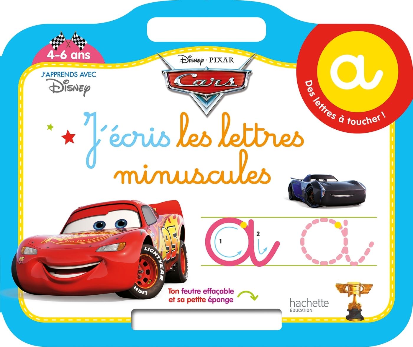 CARS ARDOISE J'ECRIS LES LETTRES MINUSCULES (4-6 ANS)