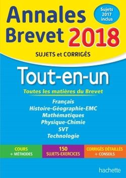 ANNALES BREVET 2018 - LE TOUT-EN-UN 3EME