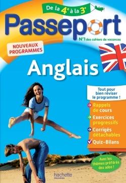 PASSEPORT - ANGLAIS DE LA 4E A LA 3E