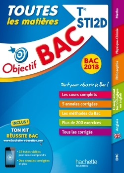 OBJECTIF BAC - TOUTES LES MATIERES - TERM STI2D BAC 2018
